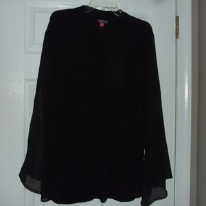 Vince Camuto Plus Size 3X Top W/Sheer Bell Sleeves
